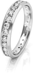 Dámský snubní prsten z bílého zlata se zirkony AUGDR001