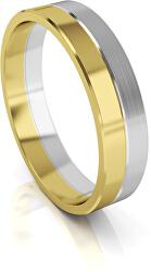 Pánský bicolor snubní prsten ze zlata AUG121