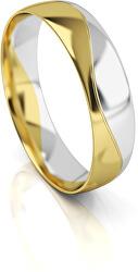 Pánský bicolor snubní prsten ze zlata AUG276