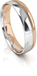 Pánský bicolor snubní prsten ze zlata AUGDR002