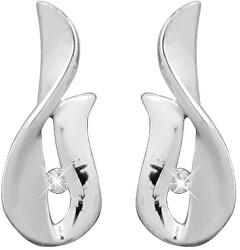 Stříbrné náušnice na šroubek s diamanty DAGUP1247S