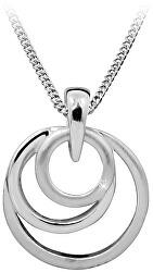 Strieborný náhrdelník s diamantom DAGS813 / 50 (retiazka, prívesok)