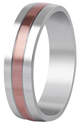 Bicolor prsten z oceli SPP10