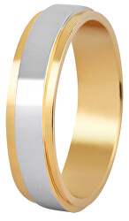 Dámsky bicolor prsteň z ocele SPD05
