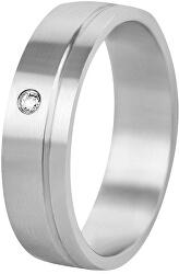 Dámský snubní prsten z oceli SPD06