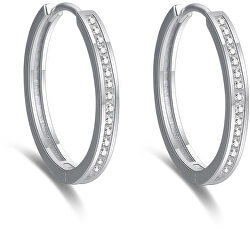 Cercei rotunzi eleganți din argint AGUC2270