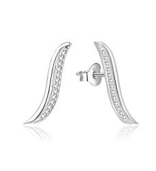 Elegantní podélné náušnice ze stříbra AGUP1790L
