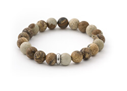 Obrúbený náramok z lávového kameňa a jaspisu MINK108