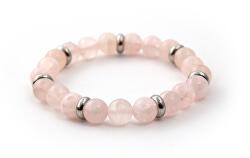 Obrúbený náramok z ružového jadeitu MINK33 / 17