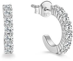 Kruhové stříbrné náušnice AGUP1169