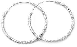 Luxusní kruhové stříbrné náušnice AGUC644/N
