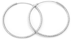 Cercei rotunzi de argint de lux AGUC787
