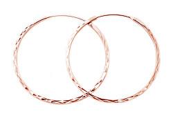 Cercei rotunzi, placați cu aur, din argint AGUC2439/SCS-ROSE