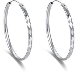 Nadčasové kruhové náušnice ze stříbra AGUC2271