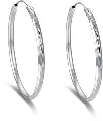 Nadčasové kruhové náušnice ze stříbra AGUC2272