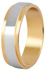 Pánský bicolor prsten z oceli SPP05
