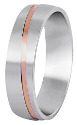 Pánsky bicolor prsteň z ocele SPP07