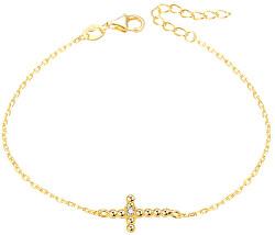 Pozlacený náramek s křížkem AGB580/21-GOLD