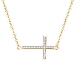Pozlátený strieborný náhrdelník s krížikom AGS196 / 47-GOLD