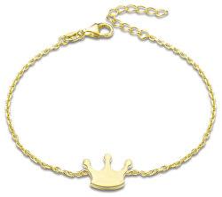 Pozlacený stříbrný náramek Koruna AGB577/21-GOLD