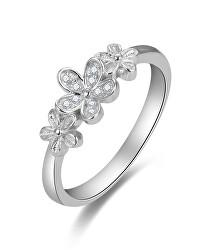 Půvabný stříbrný prsten se zirkony AGG465