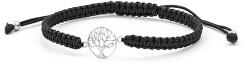Šňůrkový černý kabala náramek Strom života AGB535