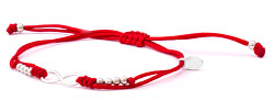 Šnúrkový červený kabala náramok Nekonečno AGB383