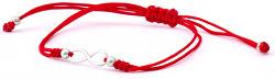 Šňůrkový červený kabala náramek Nekonečno AGB539