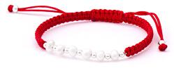 Šnúrkový červený kabala náramok s pravými perlami AGB549