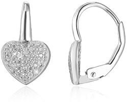 Srdíčkové stříbrné náušnice AGUC366