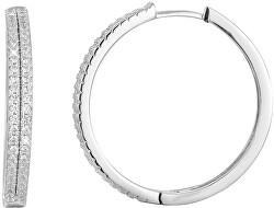 Stříbrné náušnice kruhy s krystaly AGU1155