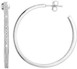 Orecchini in argento cerchi con cristalli AGUP1181