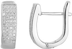 Stříbrné náušnice s krystaly AGU1165