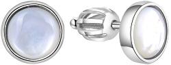 Strieborné náušnice s perleťou AGUP1651S
