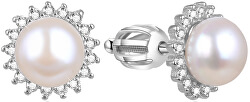 Strieborné náušnice s pravou perlou AGUP1656PS
