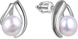 Stříbrné náušnice s pravou perlou TAGUP1665PS