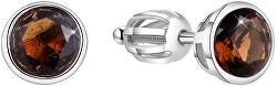 Stříbrné náušnice s třpytivým zirkonem AGUP1715S