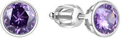 Stříbrné náušnice s třpytivým zirkonem AGUP1718S