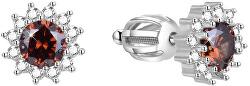 Stříbrné náušnice se zirkony AGUP1608S