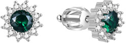 Stříbrné náušnice se zirkony AGUP1609S