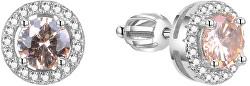 Stříbrné náušnice se zirkony AGUP1612S