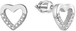 Stříbrné srdíčkové náušnice AGUP1504S