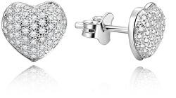 Orecchini in argento cuori AGUP153
