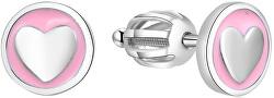 Stříbrné srdíčkové náušnice AGUP1628S