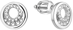 Stříbrné třpytivé náušnice AGUP1426S