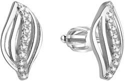 Stříbrné třpytivé náušnice AGUP1438S