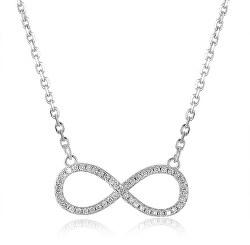 Stříbrný náhrdelník s nekonečnem AGS778/48