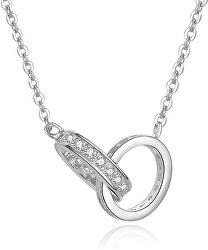 Stříbrný náhrdelník s propojenými kroužky AGS1228/47
