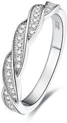 Stříbrný prsten s krystaly AGG184
