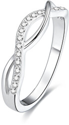 Stříbrný prsten s krystaly AGG190
